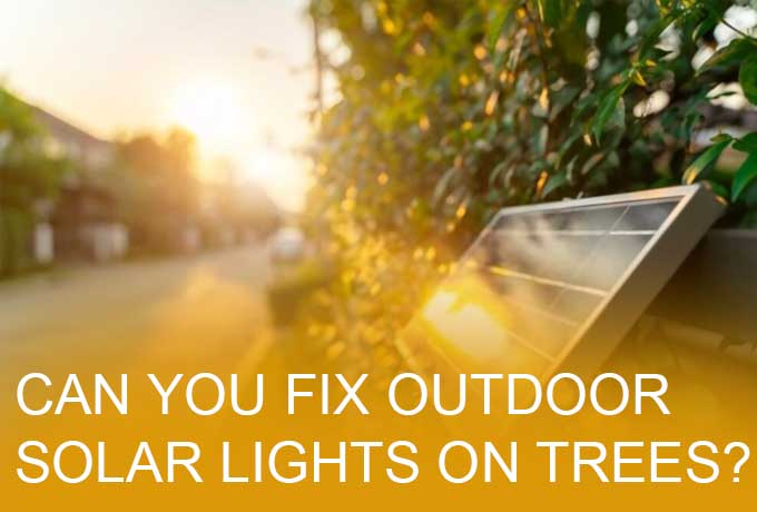 Can you fix outdoor solar lights on trees?