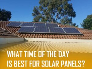 What time of the day is best for solar panels?