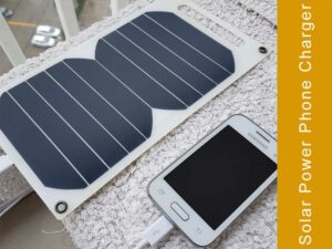 What are the benefits of using a solar powered cell phone charger